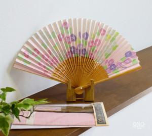 ピンク朝顔 扇子